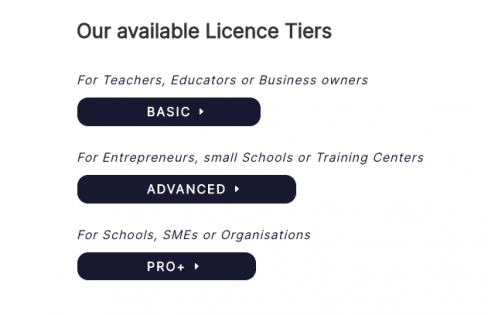 online English teaching with these English4Work license tiers